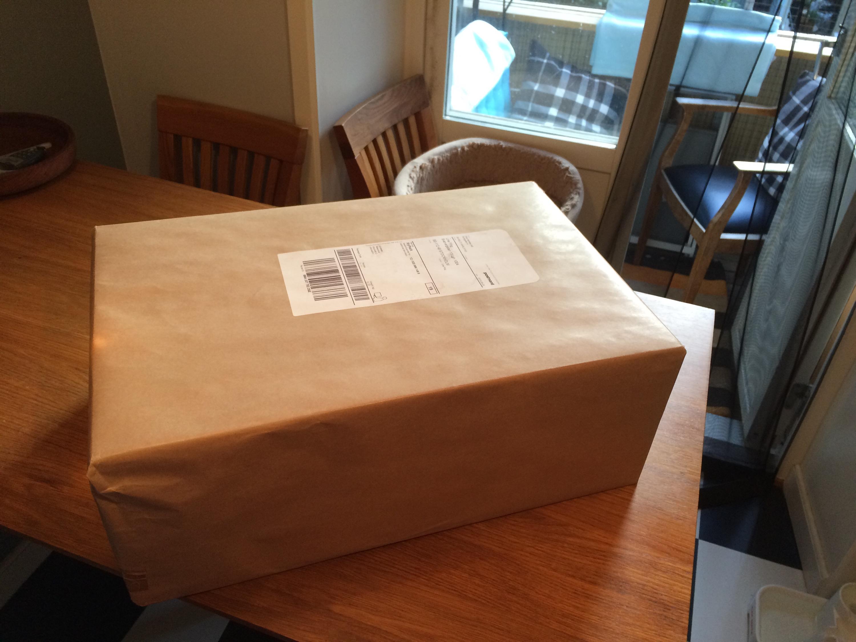 Oöppnat paket med min Diluo