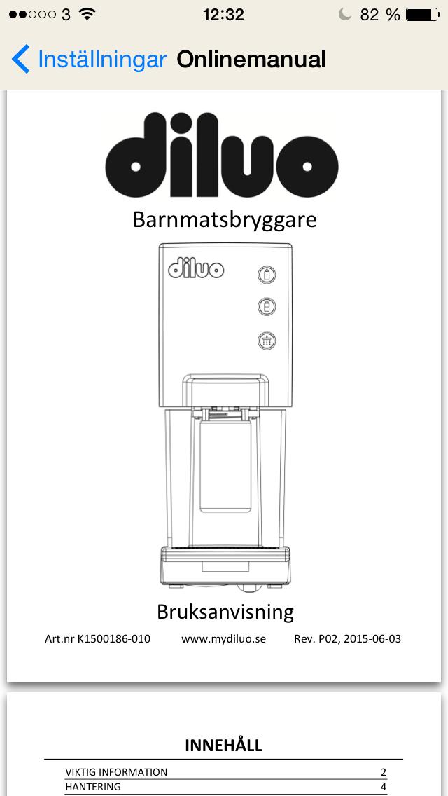 Manual till Diluo
