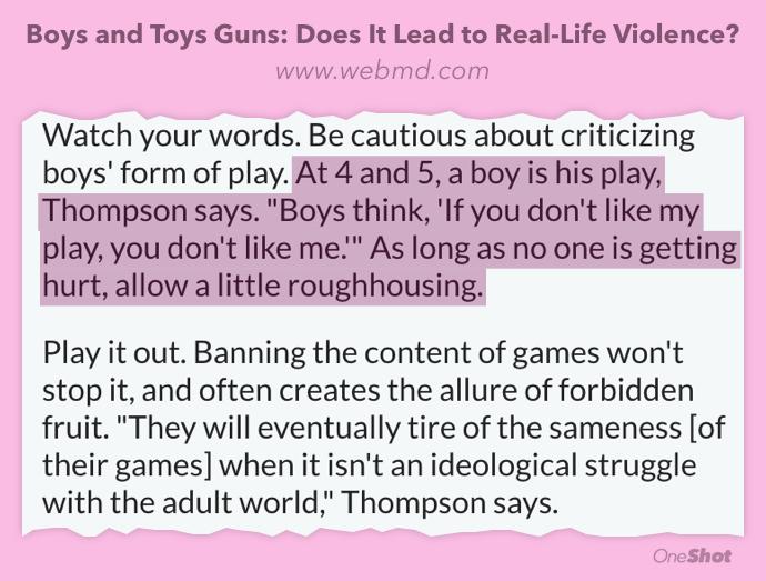 pappablogg, våld, leksaksvapen, leksakspistoler