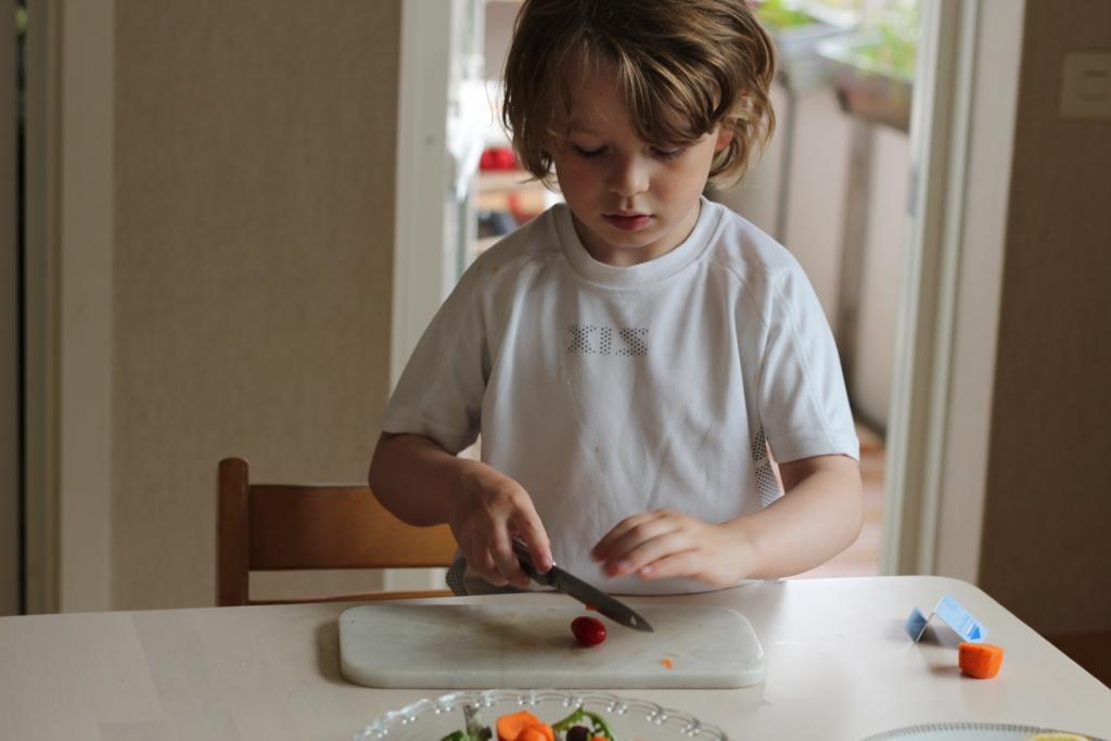 Pappablogg, engagera barnen i matlagning,