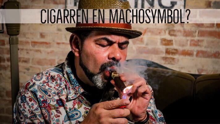 Machokultur, macho, cigarr, man i hatt,